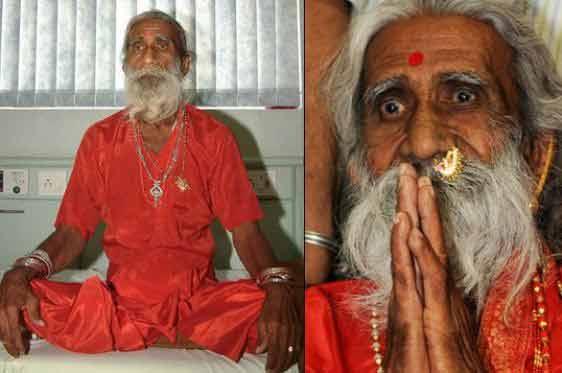 prin puterea meditatiei, acest mentor spiritual nu a avut nevoie de mancare timp de 75 de ani