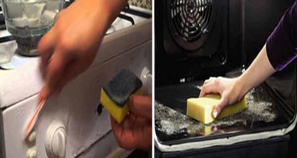 cuptorul poate fi curatat eficient cu bicarbonat de sodiu si otet de mere