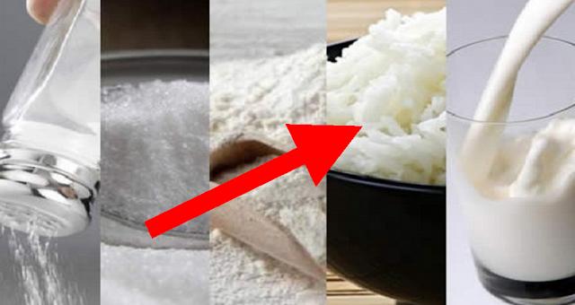 """Cele 5 """"otrăvuri albe"""" pe care le consumi zilnic. Încetează imediat să le mai consumi. Iată motivele!"""