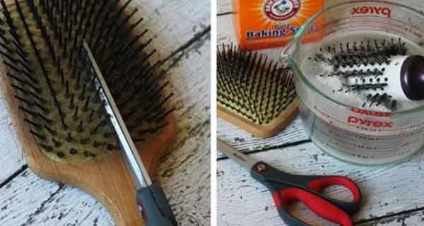 Fă asta ca să-ți cureți foarte ușor peria de păr!