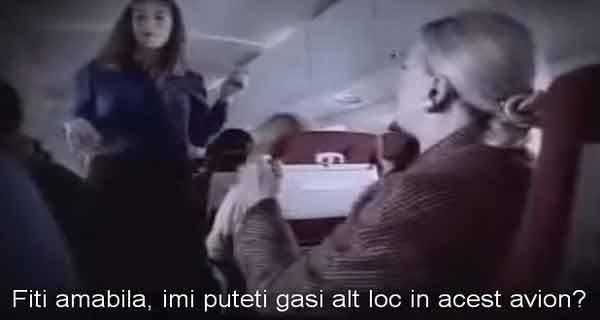 aceasta femeie a refuzat sa stea in avion langa un barbat de culoare
