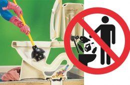 obiecte pe care trebuie sa eviti sa le arunci in toaleta