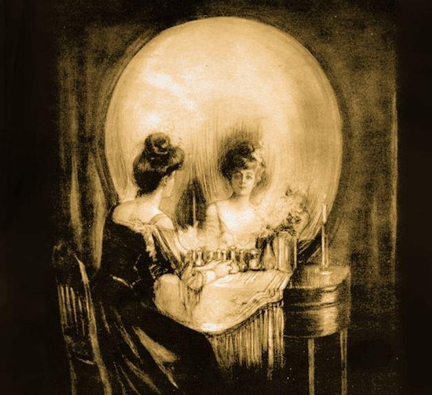 un schelet sau doaua doamne la o cafea