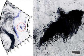 oamenii de stiinta au descoperit o gaura gigantica in Antartica