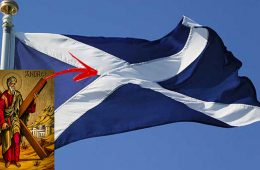 ce semnifica crucea de pe stegul scotiei
