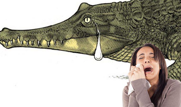 expresia lacrimi de crocodil