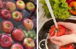 elimina pesticidele de pe legume