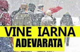 Iarna se instaleaza in Romania